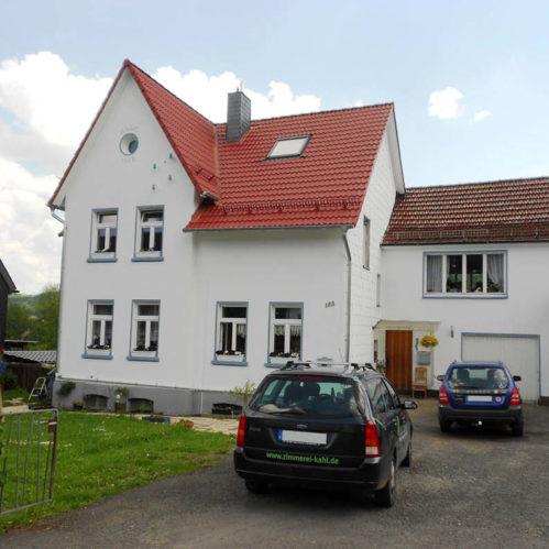Dacheindeckung mit Betondachpfannen